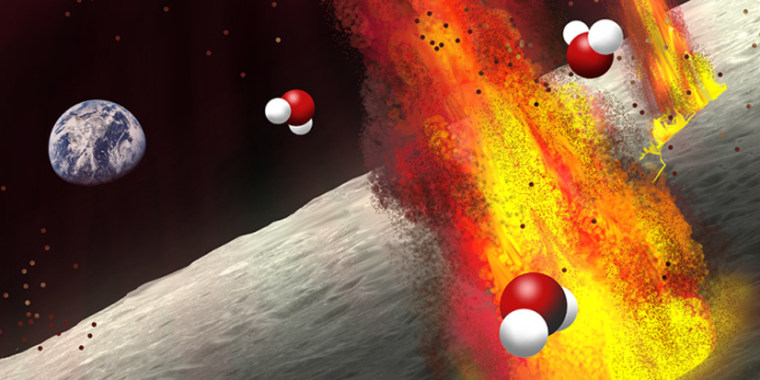 Scientists have found evidence of water deep below the lunar surface