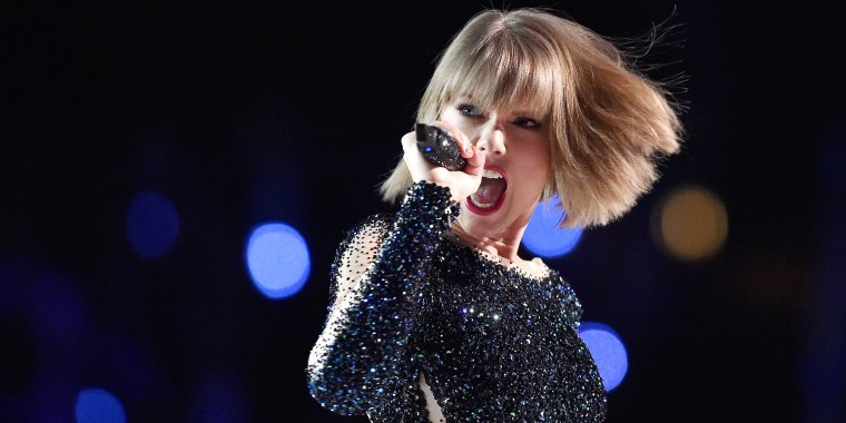 Image: Singer Taylor Swift performs onstage during The 58th GRAMMY Awards