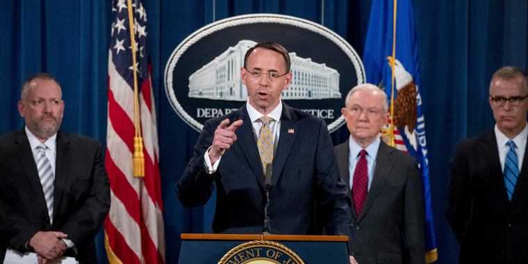 Image: Jeff Sessions, Rod Rosenstein, Robert Patterson, Andrew McCabe