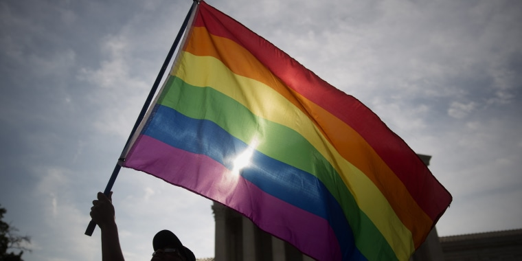 Image: Rainbow flag outside the U.S. Supreme Court in Washington, D.C., U.S., on Friday, June 26, 2015.