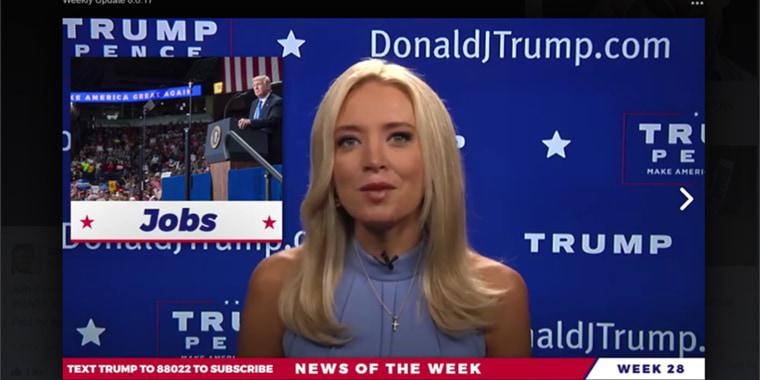 """Image: Kayleigh McEnany hosts """"News of the Week."""""""