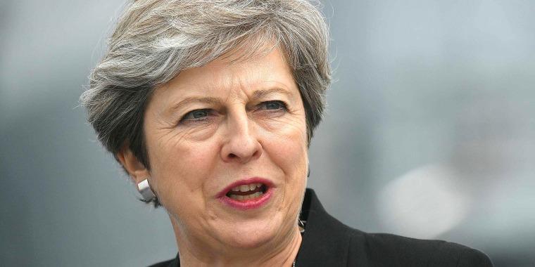 Image: Britain's Prime Minister Theresa May