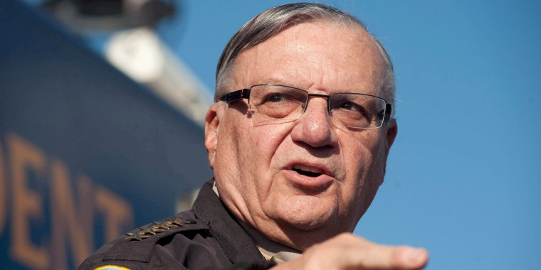 Image: Maricopa County Sheriff Joe Arpaio announces newly launched program aimed at providing security around schools in Anthem, Arizona