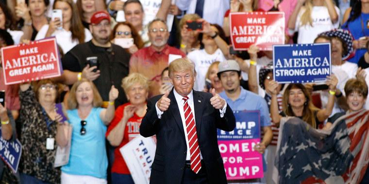 Image: President Trump Holds Rally In Phoenix, Arizona