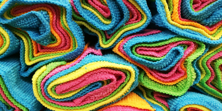 Full Frame Shot Of Colorful Microfiber Fabrics