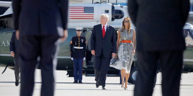 Image: President Donald Trump and First Lady Melania Trump board Air Force One