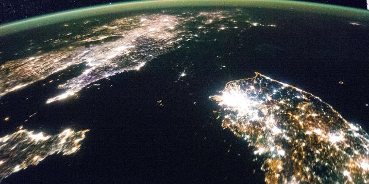Image: Night satellite image of North Korea