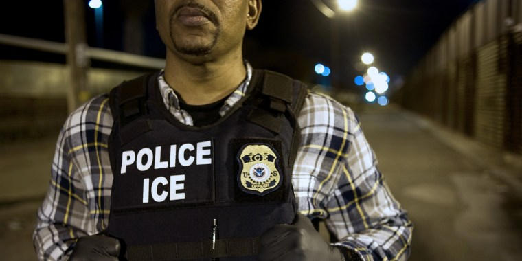 Image: Immigration & Customs Enforcement (ICE) Agents Work At Border Ahead Of Possible DHS Shutdown