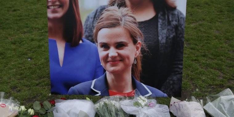 Image: A vigil for slain British lawmaker Jo Cox in 2016