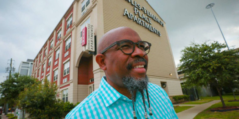 Image: Pastor Rudy Rasmus of St. John's United Methodist Church in Houston
