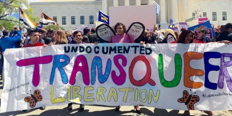 Catalina Velasquez (center) marches in Washington, D.C. Photo courtesy of Catalina Velasquez.