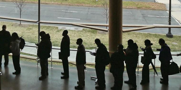 Image: Employment Seekers Attend Job Fair In Washington DC