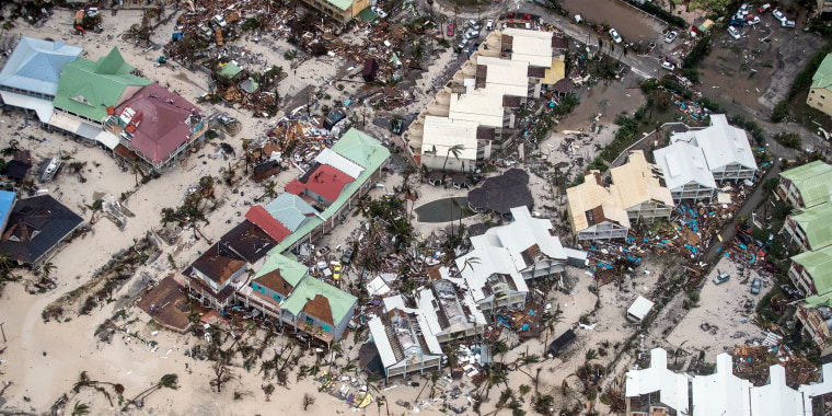 Image: Storm damage in the aftermath of Hurricane Irma, in St. Martin