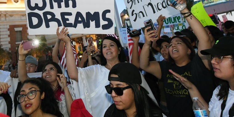 """Image: Hundreds Join """"Defend DACA"""" March In Las Vegas"""