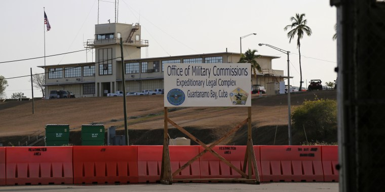 The Courthouse One Expeditionary Legal Complex at Naval Station Guantanamo Bay, Cuba, Monday, June 17, 2013, as Military Commission preliminary hearings reconvened in the case against Khalid Shaikh Mohammed and his fellow 9/11 co-conspirators.