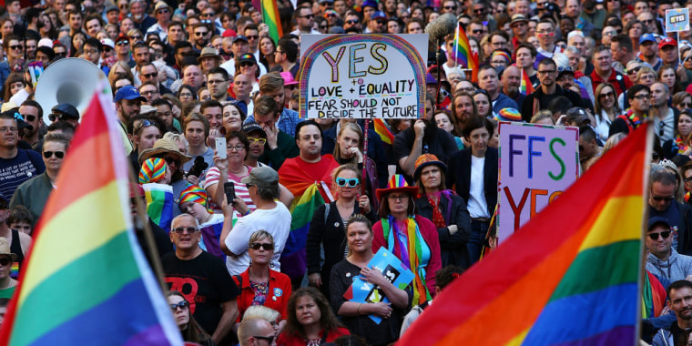 Sydneysiders Rally For Marriage Equality Ahead Of National Postal Vote On Same-Sex Marriage