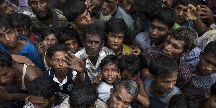 Image: Rohingya Refugees Flood Into Bangladesh