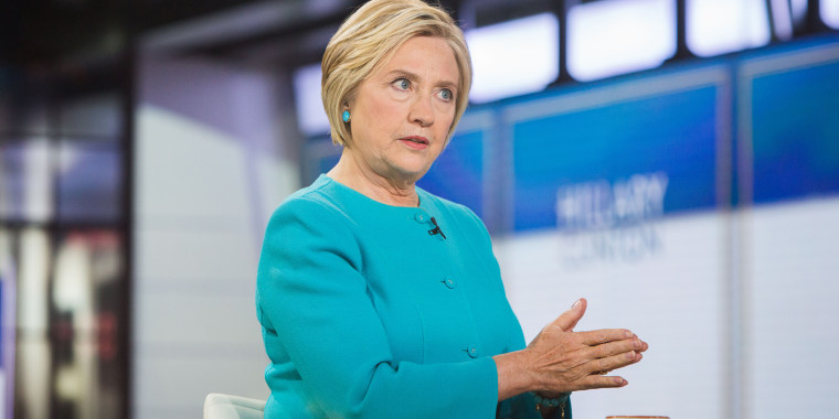 Former presidential candidate Hillary Clinton is interviewed on TODAY.