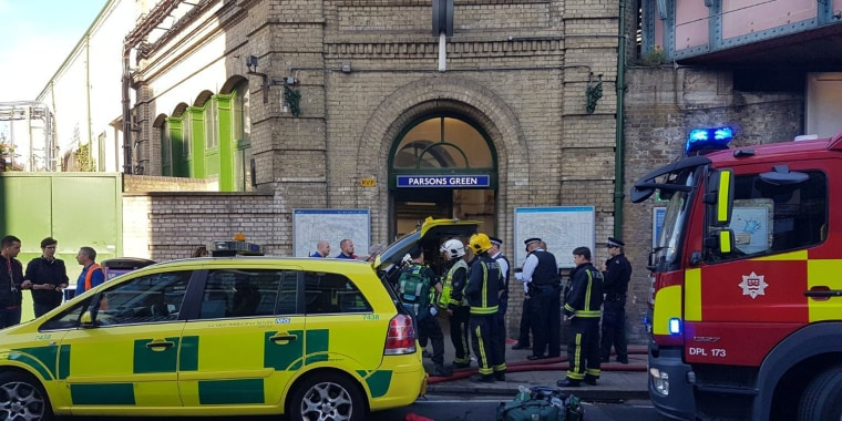 Image: Emergency services at Parsons Green