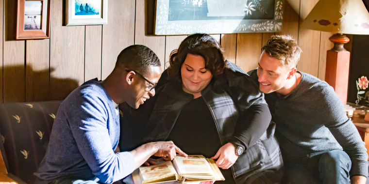 """Image: Sterling K. Brown as Randall, Chrissy Metz as Kate, Justin Hartley as Kevin in """"The Trip"""" on season 1 of """"This is Us."""""""