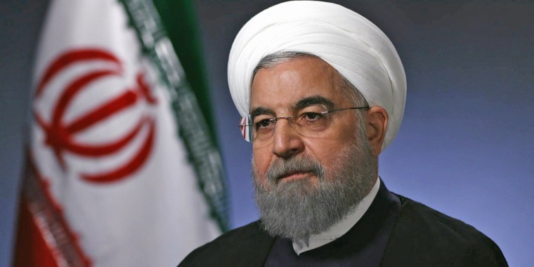 Iranian president Hassan Rouhani is interviewed at the United Nations on Sept. 19.