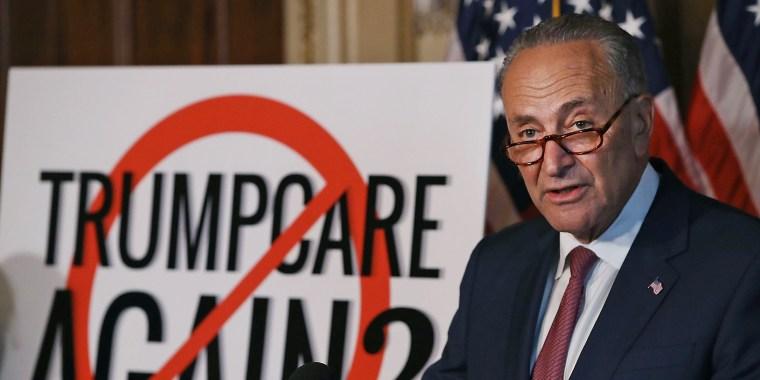 Image: Democratic Senators Denounce Graham-Cassidy Health Care Bill