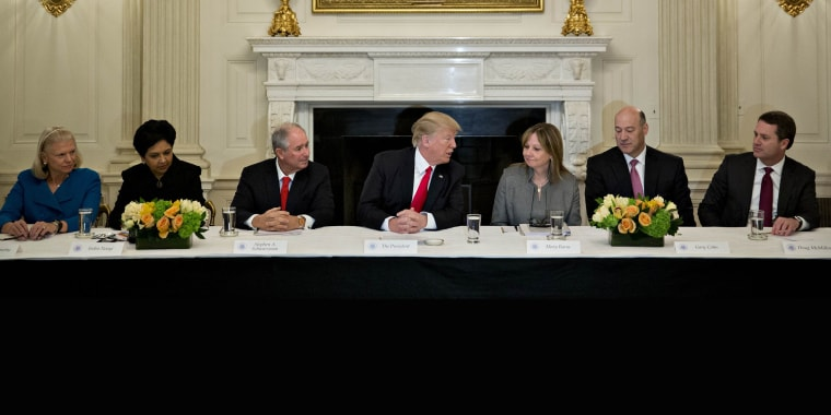 Image: President Trump Participates In Strategic And Policy Forum At The White House