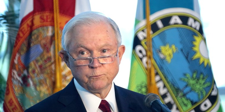 Image: Attorney General Sessions speaks on crime in sanctuary cities