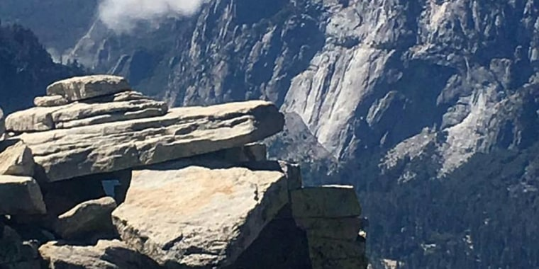 A large rockfall took place on Yosemite National Park's famed El Capitan granite wall on Sept. 27, 2017.