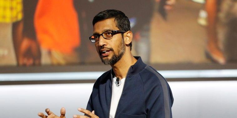 Image: Google Inc CEO Sundar Pichai speaks during a launch event in San Francisco