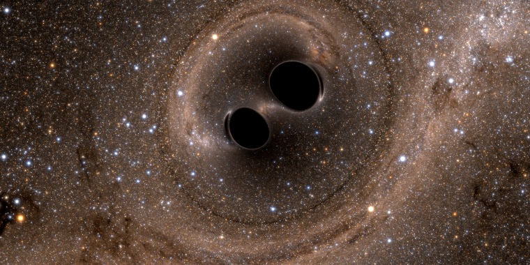 Image: Collision of Two Black Holes