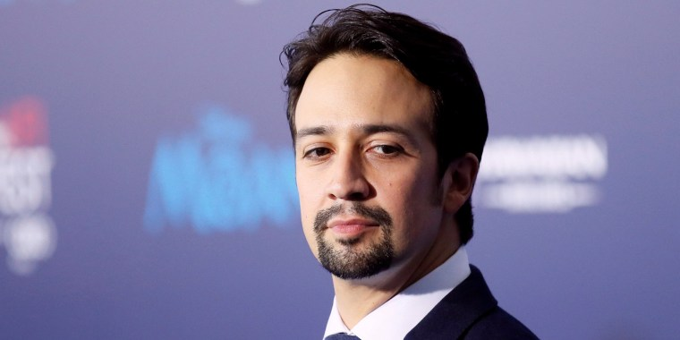 """Image: FILE PHOTO: Actor and composer Lin-Manuel Miranda poses at the world premiere of Walt Disney Animation Studios' """"Moana"""" as a part of AFI Fest in Hollywood"""