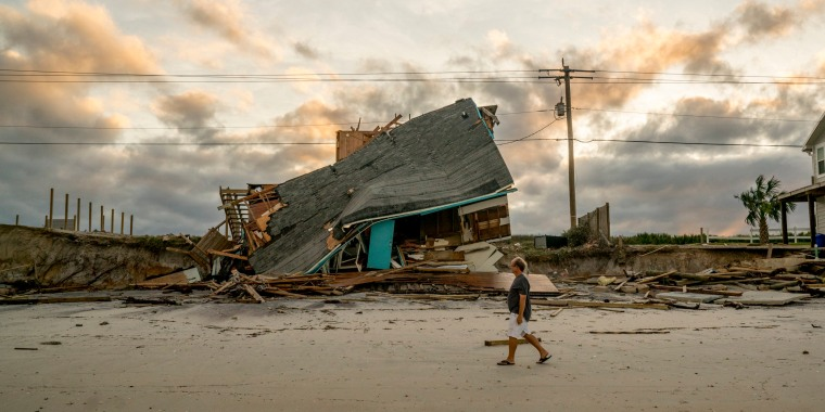 Image: A destroyed home following Hurricane Irma on Vilano Beach outside St. Augustine, Fla.