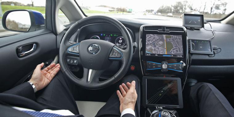 Nissan driverless car demonstration