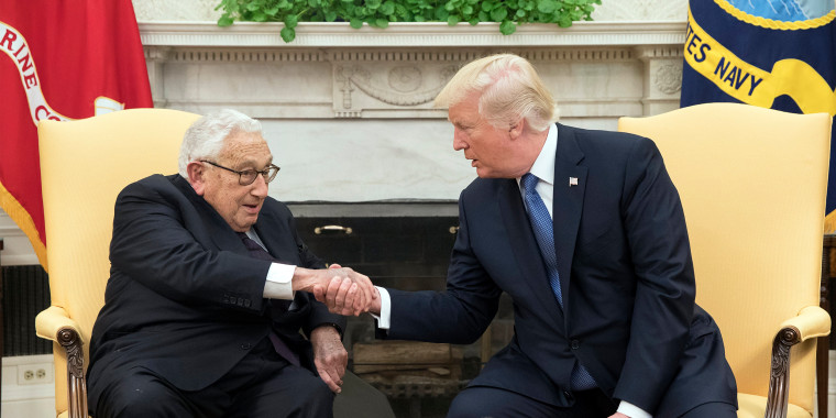 Image: US President Donald J. Trump hosts former Secretary of State Henry Kissinger