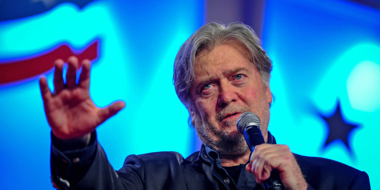 Image: Former White House Chief Strategist Bannon delivers remarks in Washington