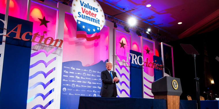 Image: Trump speaks at the Values Voter Summit