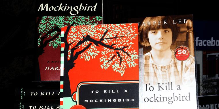 "Image: Harper Lee's  ""To Kill A Mockingbird"" on display at Barnes & Noble"