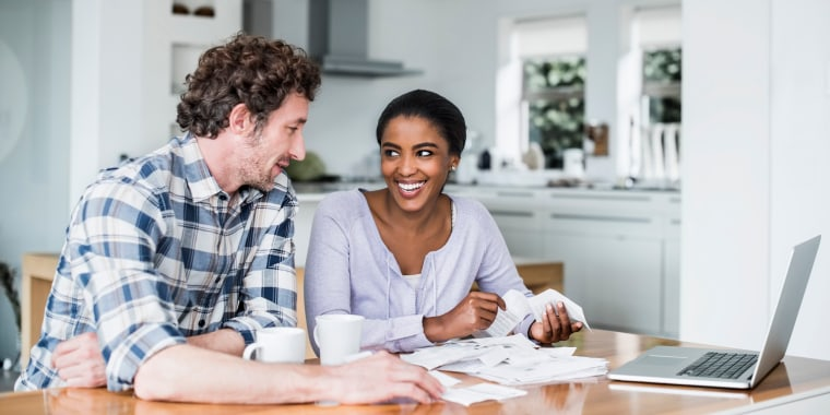 Image: Happy Couple Making Online Payment