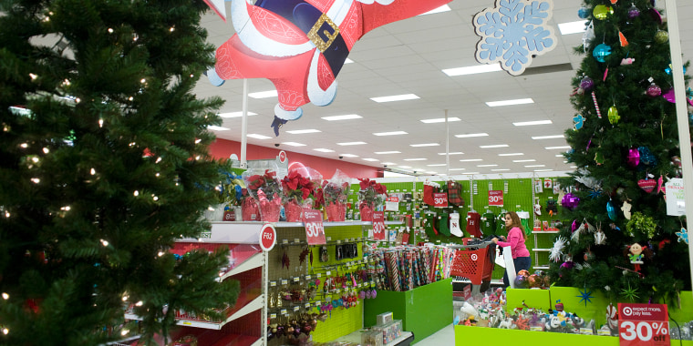 Customers Shop In The Christmas Section Of A Target In Porterville, Calif.  In 2014.Chieko Hara / The Porterville Recorder Via AP File