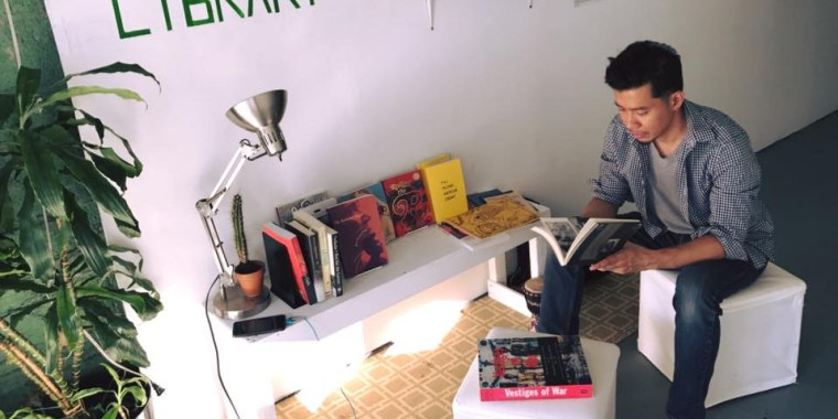 The Pilipinx American Library at the Flux Factory art space in New York City in July 2017.