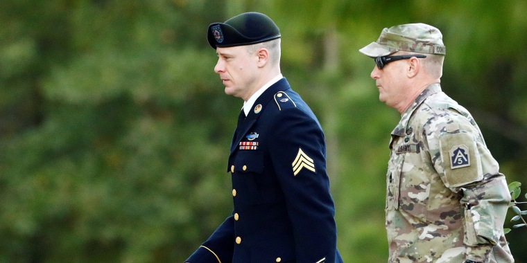 Image: U.S. Army Sergeant Bergdahl is Escorted to the Courthouse for the Fifth Day of Sentencing Proceedings