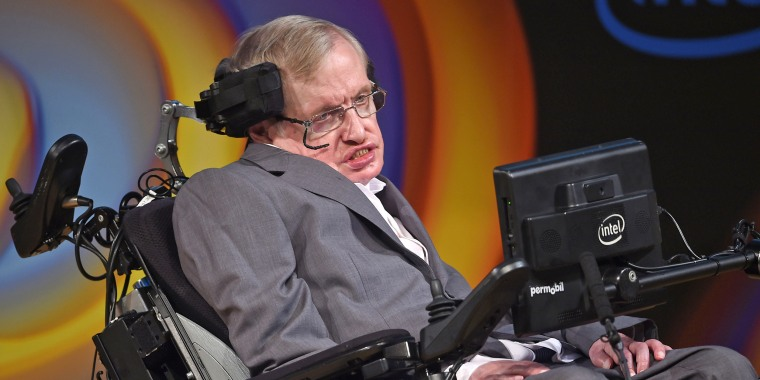 Image: Stephen Hawking speaks about his life and work at a public symposium