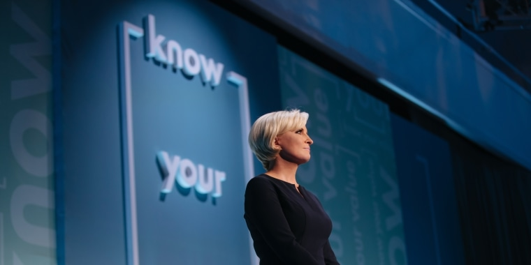 Mika Brzezinski speaks at her Know Your Value conference in New York City on Oct. 30.
