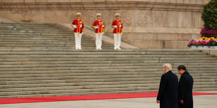 Image: Trump makes an official visit in Beijing, China