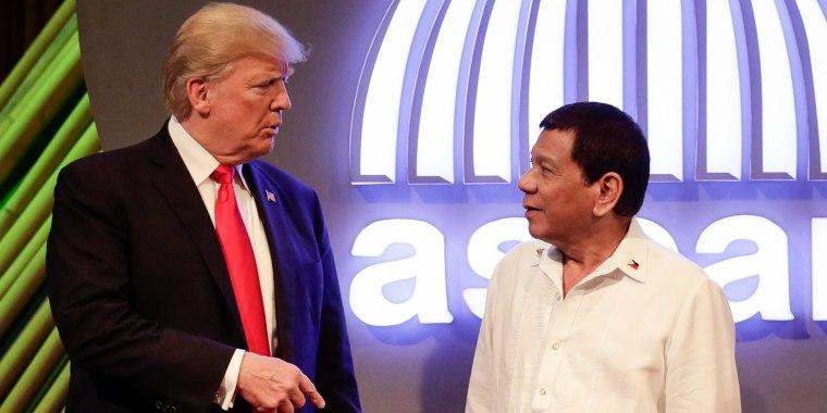 Image: Donald Trump and Rodrigo Duterte