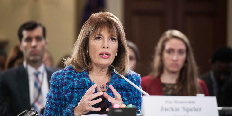 Image: US Democratic Representative from California Jackie Speier speaks
