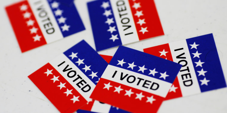"""Image: """"I Voted"""" stickers on election day"""