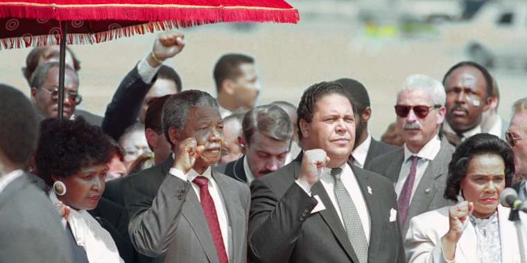 Image: Coretta Scott King and Nelson Mandela