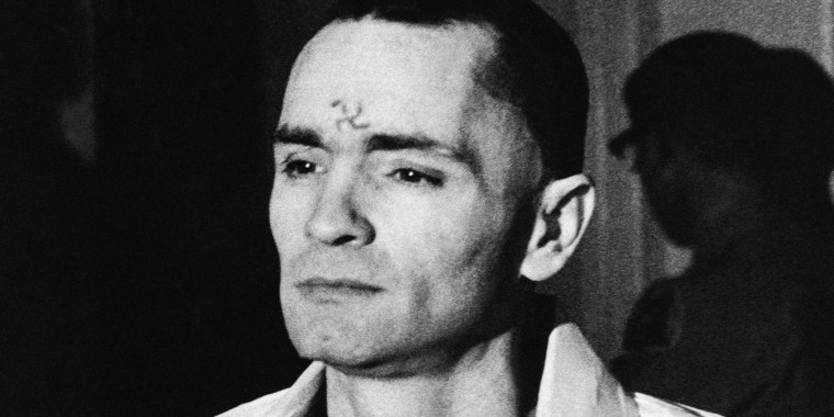 Charles Manson With A Swastika On His Forehead Walks To Court In Los Angeles During The The Penalty Phase Of The Sharon Tate Trial After Being Convicted